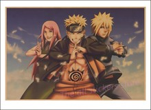 Uzumaki naruto Kraft Paper Posters Bar Cafe wall sticker (28 styles)