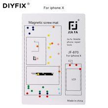 DIYFIX 1 PC śruba magnetyczna mata dla iPhone X 8 8 Plus 7 7 Plus 6 6 Plus podkładka pod śrubę nie miał w tej sytuacji wykres telefon komórkowy naprawa narzędzia ręczne