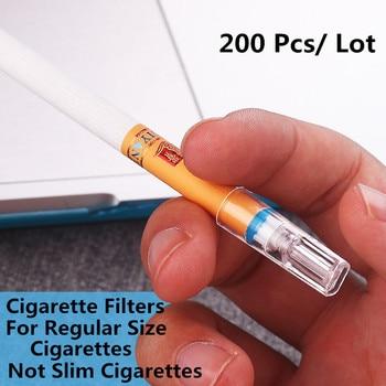 200 PCS A Box Regular Size Cigarette Tar Health Filters Holder Food Grand Plastic Disposable Cigarette Holder Tips Mouthpieces