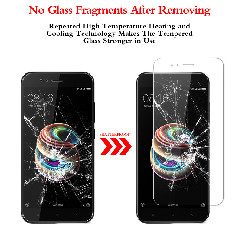 MCMEME For Xiaomi Mi A1 Tempered Glass 9H Slim Explosion proof HD Screen Protector For Xiaomi Mi 5X MiA1 Mi A1 Protective Film in Phone Screen Protectors from Cellphones Telecommunications