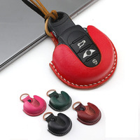 Genuine Leather Car Key Bag Case Cover Fob Holder Protecter For BMW Mini Cooper JCW One