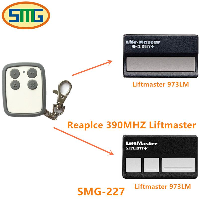 Free Shipping 390mhz 971lm 973lm liftmaster clone duplicate copy garage gate door open remote control handsender key 330mhz 8 dip switch 5326 auto gate duplicate remote control