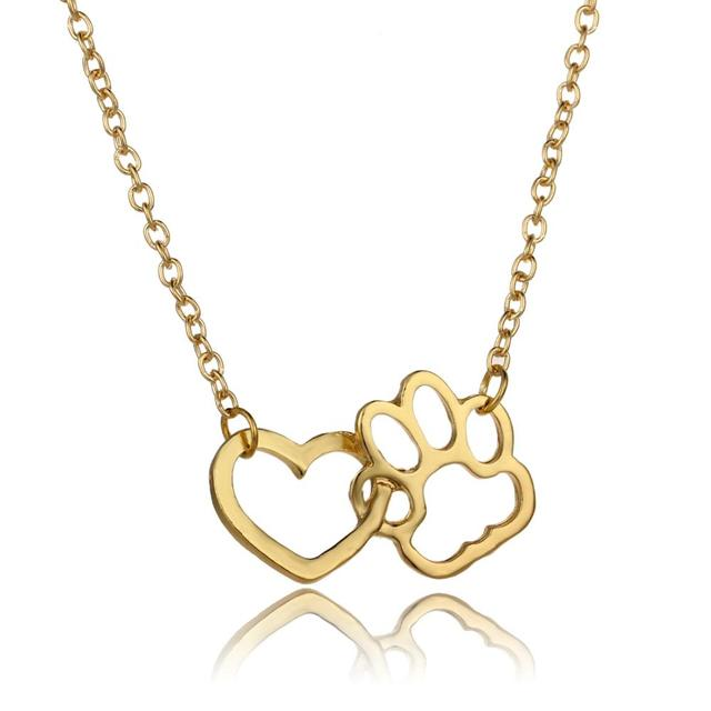 Dog Heart Charm Necklace 5