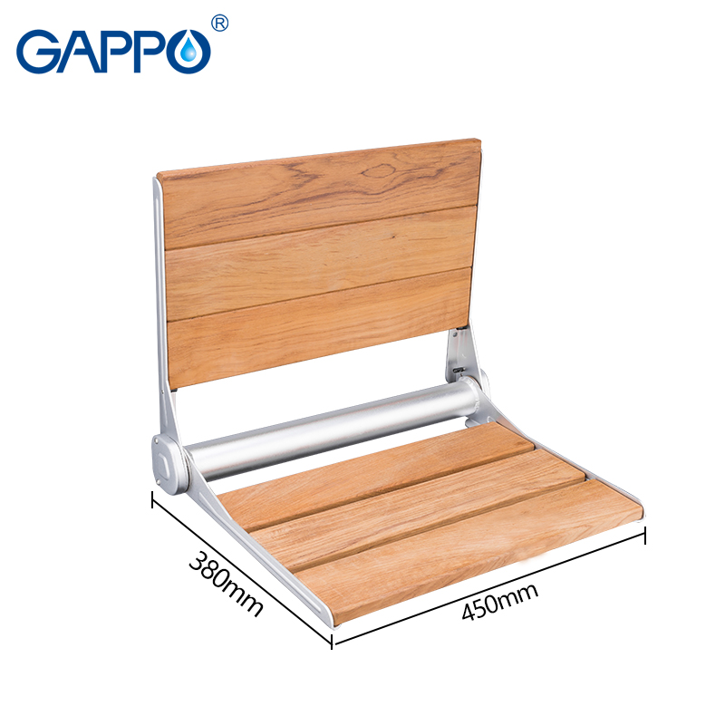 Bathroom Fixtures Gappo Wall Mounted Shower Seats Folding Waiting Chairs Bench Relax Chair Shower Seats Bathroom Stool Cadeira