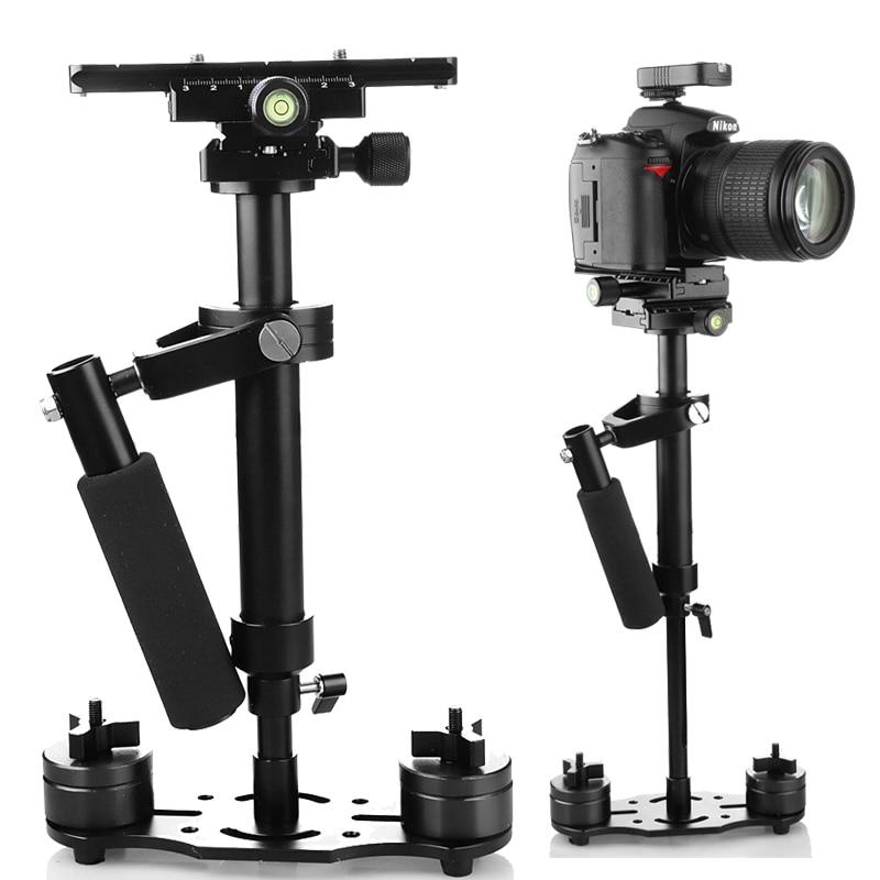 handheld 60cm S-60 Video Camera Stabilizer S60  DV camcorder Steadycam Steadicam Arm Vest for canon nikon sony DSLR camera s 60handheld mini handheld stabilizer for camcorder dv video camera dslr black blue
