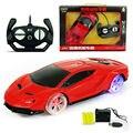 Glowing roda cor 1:24 4ch rc cars coleção rádio controlado máquinas cars pode ser carregada no controle remoto toys crianças