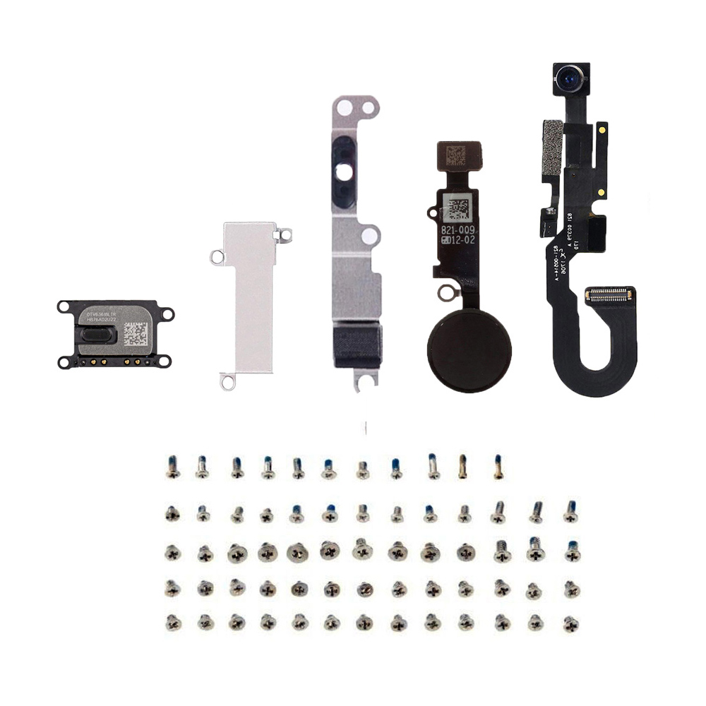 For IPhone 7 7 Plus Front Camera Ear Speaker Home Button Key Flex Cable + Metal Bracket +Full Set Screws