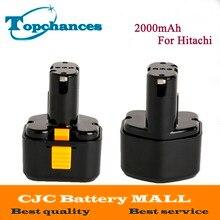 2X High Quality 9 6V 2000mAh Ni CD Rechargeable Power Tool Battery For Hitachi Drill EB9G