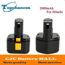2X High Quality 9.6V 2000mAh Ni-CD  Rechargeable Power Tool Battery For Hitachi Drill EB9G, EB9M, EB9S, EB924, EB9B, FEB9S
