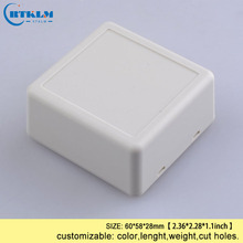 Free shipping 18pcs diy plastic box abs plastic enclosure housing electronic project box Desktop wire junction box 60*58*28mm 1 piece free shipping blue color wire drawing surface anodizing high quality aluminum junction housing case for electronics