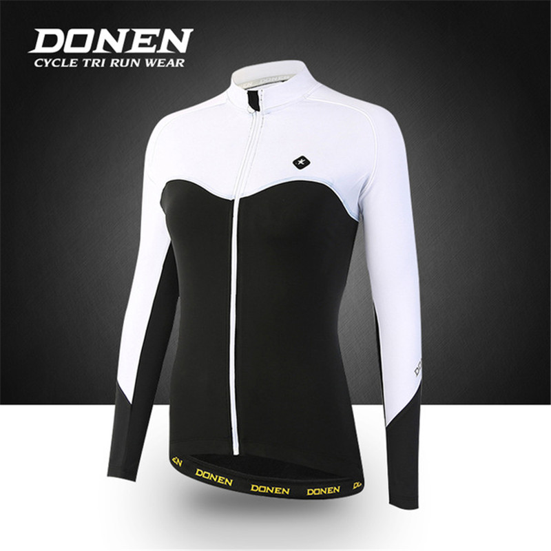 DONEN 2017 Autumn cycling jacket sets waterproof windproof long sleeve bike riding coat jersey suits women bicycle clothing warm цена