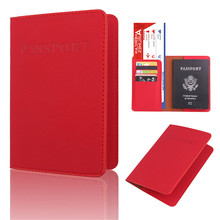 New PU Leather Passport Cover Holder Women Men Travel Credit Card Holder Travel ID Card Document Passport Holder new lovely peter rubbit travel passport holder cover pu leather identity id card credit card holder bag document folder 14 9 6cm