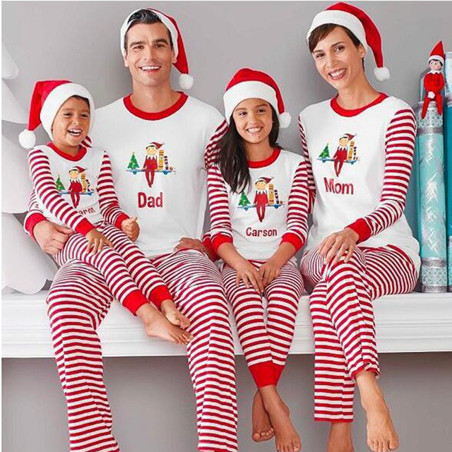 New Year Family Christmas Matching Pajamas Clothes Dad Mom Baby Cute  Cartoon Figures Sets Costumes Family Pijamas Clothing Suit d74c71b44