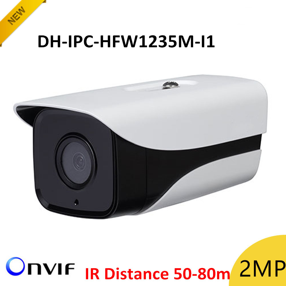 цена New DH IPC-HFW1235M-I1 2mp IP Bullet Camera IR disstance 50-80m H.265 Outdoor camera IP67 Survillance camera ip cam