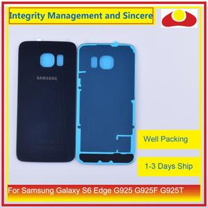 Image 5 - 50 pçs/lote Para Samsung Galaxy S6 Borda G925 G925F G925T Traseira Tampa Traseira de Vidro Habitação Porta Da Bateria Caso Shell Chassis substituição