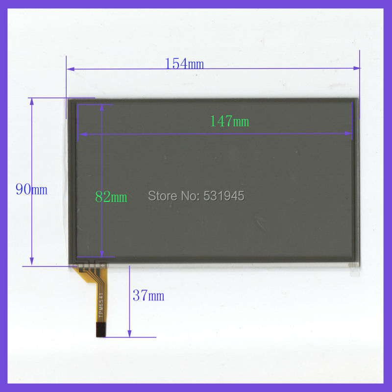 6.5 inch 4line touch screens on car GPS 154mm*90mm on display 154*90