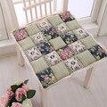 Flowers pattern Patchwork Chair Cushion,Decorative Pillows for Home Children Decor Pillows Dining Chair Sofa Car Seat Cushion