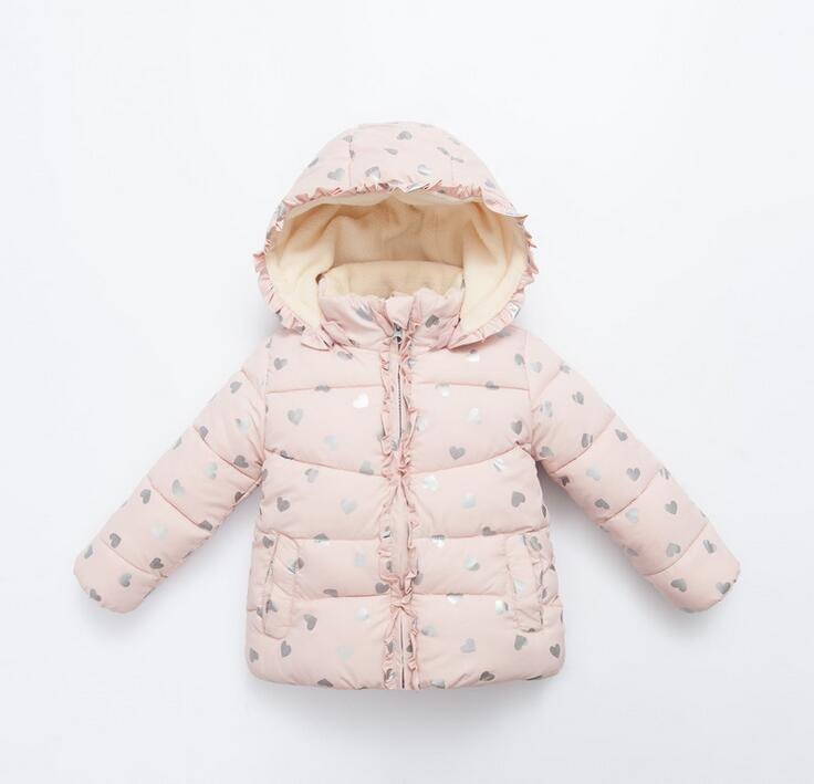 New 2016 Winter Children Clothing Girls Outerwear Kids Down Coat Cute Outerwear Princess Pink Warm Coat