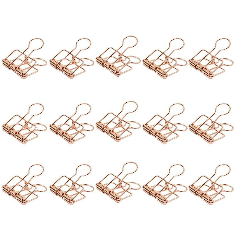 HOT-32mm Pink Gold Drawing Clip