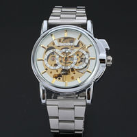 Top Brand Luxury WINNER Watches Men Fashion Men's watch Automatic Mechanical Watch Wristwatch Reloj Hombre Stainless Steel Band