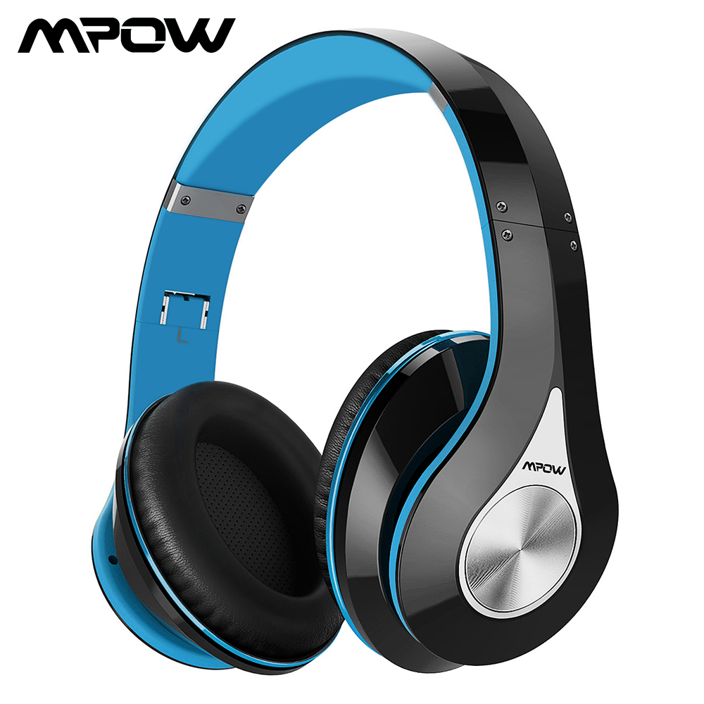 Mpow 059 Bluetooth Wireless Headset Overear Stereo Foldable Headphone Ergonomic Design Earmuffs with Built in Mic