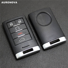 цена на AURONOVA New Replace Smart Shell for Cadillac ATS XTS CTS SLS SRX 5 Buttons Replace Remote Car Key Case DIY