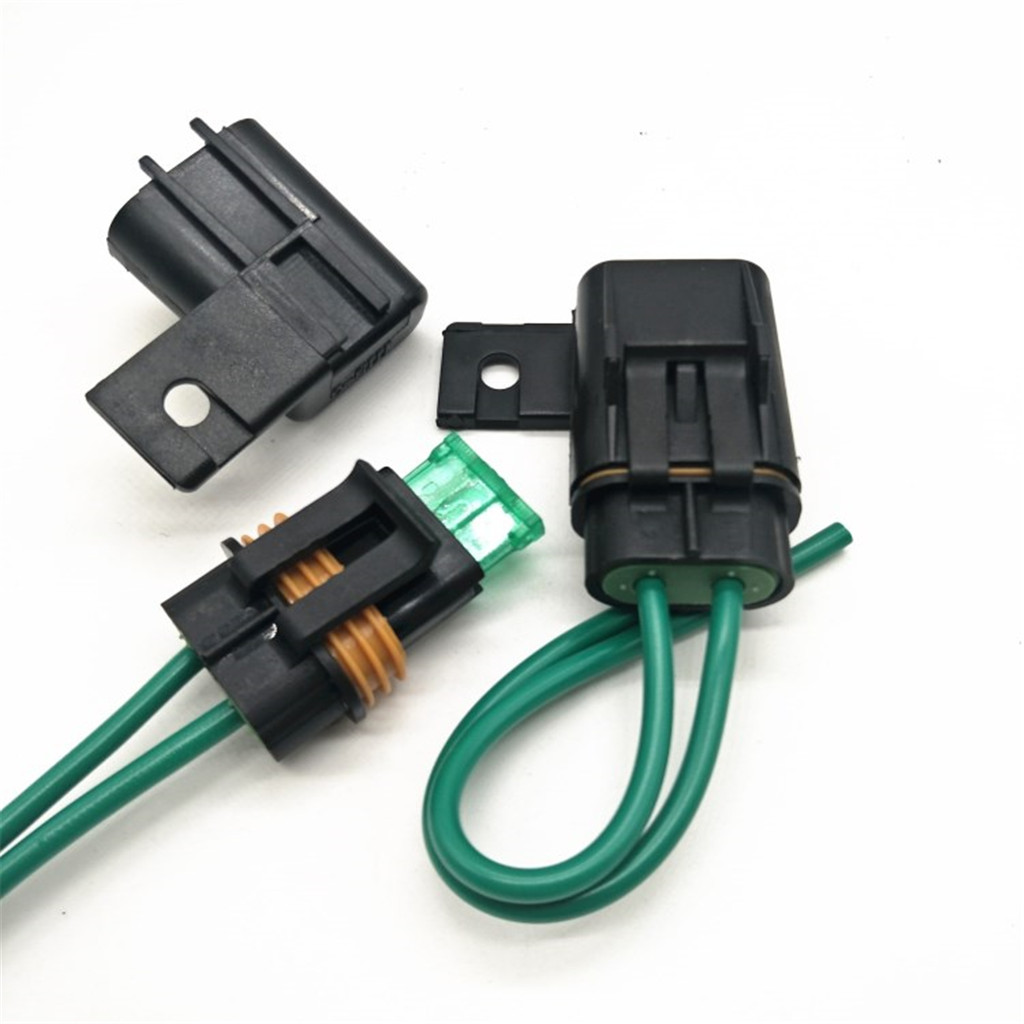 1 Set Car Truck Boat In line Fuse Holder with Cover 40A Medium Blade Fuse Media mecha moyennes Auto Replacement Parts in Fuses from Automobiles Motorcycles