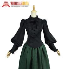 Victorian Edwardian Romantic Gothic Steampunk Black Penny Dreadful font b Blouse b font font b Shirt
