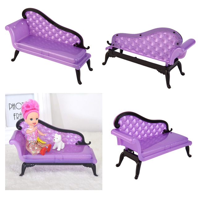 TOYZHIJIA Hot Selling Miniature For Barbie House Furniture Package Plastic  Parts [chaise Sofa Chair]