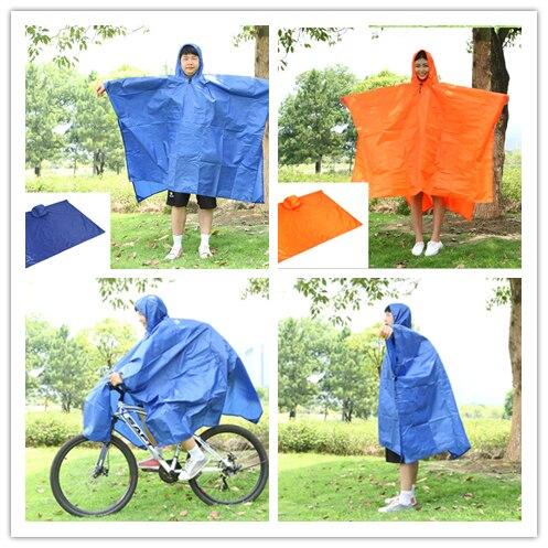 Multiusos al aire libre poncho impermeable de la bicicleta ropa de lluvia tienda