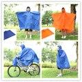 Multiusos al aire libre poncho impermeable de la bicicleta ropa de lluvia tienda de campaña viajes estera equipo orange/blueling kit de viaje