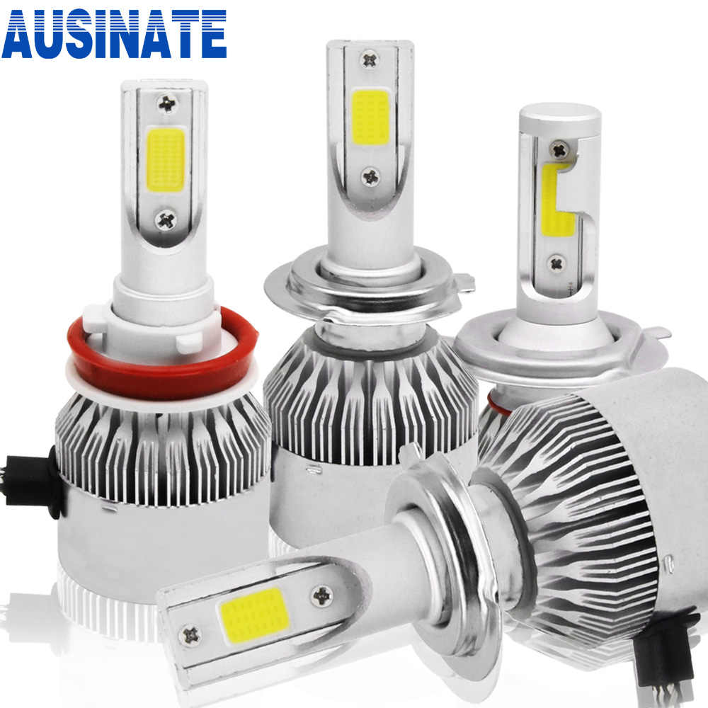 2Pcs Turbo Led H4 H7 H1 H11 H3 H8 HB3 HB4 9005 9006 9007 Auto Car Headlight Bulb 7600lm 6000k C6 Led Automotivo Lamp Car Lights
