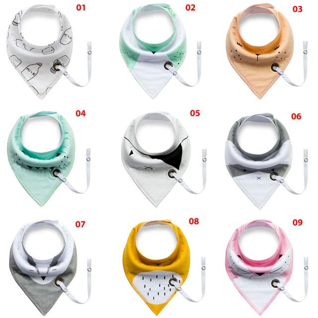 Newest 18 styles burp brand baby bibs saliva towel Arrow animal cartoon bibs burp cloths kids triangle cotton