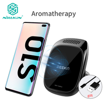 10W Wireless Charger Car aromatherapy, NILLKIN Magnetic Phone Holder Wireless Charger for Samsung S10/S10e/S9 For iPhone X/XS/XR все цены