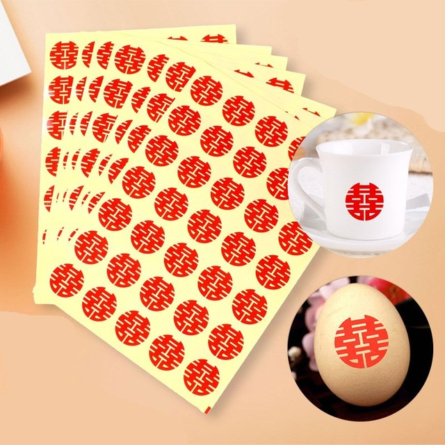 5pcs mini wedding envelope stickers 8 styles offer red gold double