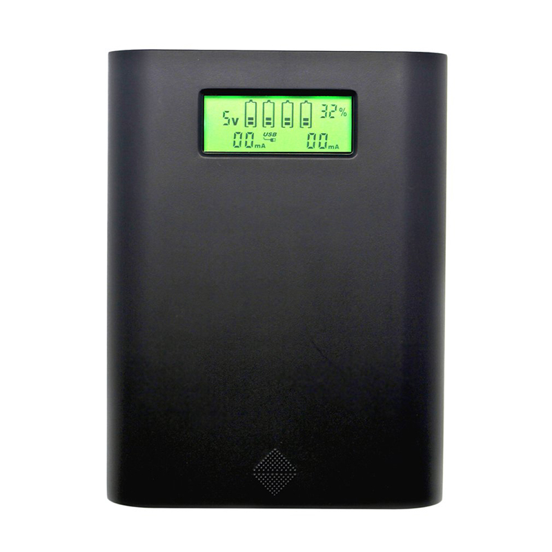 Professional E3S LCD Display Screen Batteries Charger Replaceable Batteries bank For 4 Pieces 18650 Batteries Black