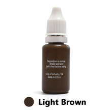 Professional Tattoo Ink Microblading Permanent Makeup Micro Pigment for Eyebrow Lip Eyeliner 1/2 oz 15ML Light Brown 1Piece