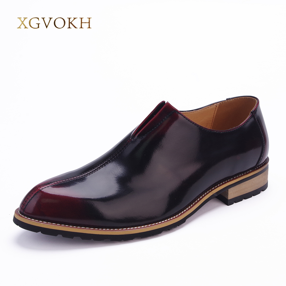 XGVOKH Luxury Men Dress Shoes Slip-on Oxford Shoes Leather Business Casual Breathable Shoes Flats цена 2016