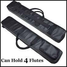 Китайский Флейта Dizi и Сяо Чехол черный искусственная кожа Сумка традиционный музыкальный инструмент flauta чехол может содержать 4 Флейта S