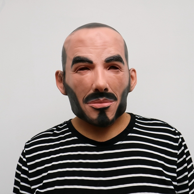 Realistic Party Cosplay Famous Person Man David Beckham Face Masks Latex Real Human Face Cosplay Mask Cool Event Mask Funny