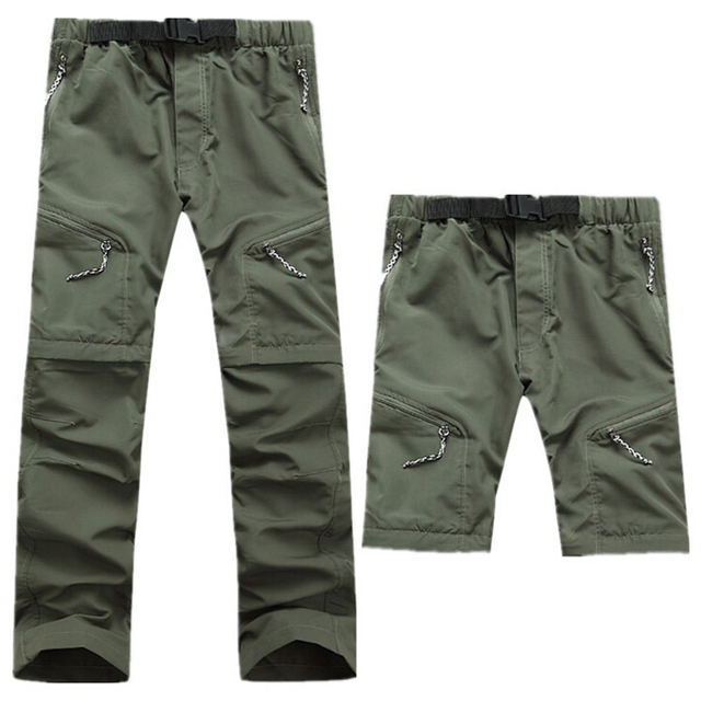 Quick Dry Outwear Pants Men Removable FishingHikingCamping Breathable Pants Men UV Protection Pant Active army Trousers