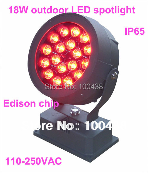 good quality,Waterproof,18W LED outdoor spotlight,LED projector light,18X1W,EDISON chip,2-year warranty,110V-250VAC
