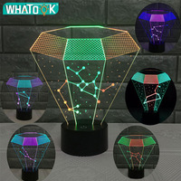 Creative Zodiac Sign 7 Color LED Night Light Constellation Table Lamp USB 3D Diamond Starry Sky Horoscope Baby Gift Home Decor