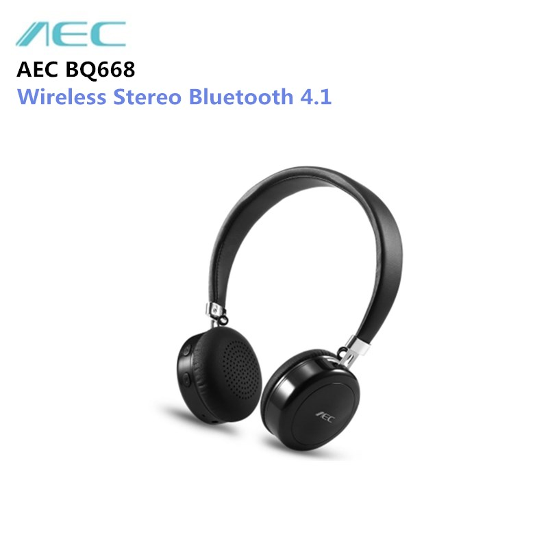 AEC BQ668 Wireless Stereo Bluetooth 4.1 On-ear HiFi Headphones Portable Headset with Microphone Support 3.5mm Audio Input