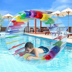 90 см гигантский Красочные Надувной круг для купания ролик Дети плавание бассейна ролл мяч водные шары для обувь мальчиков и девочек