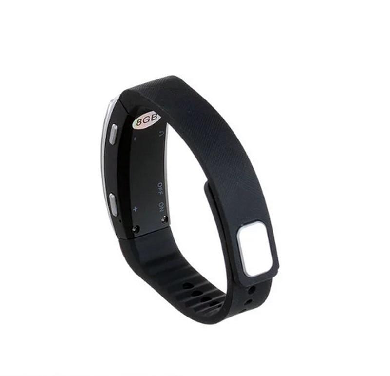 Wristband Bracelet Voice Activated Recording 8GB Digital Voice Recorder Sound Audio Recorder MP3 Player USB Mini Dictaphone Pen