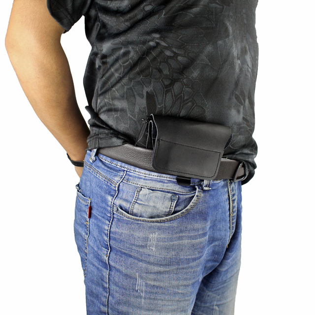 Full Concealed Carry Holster Rapid Draw Leather Inside The Waistband Holster for Compact to Medium Handguns 3