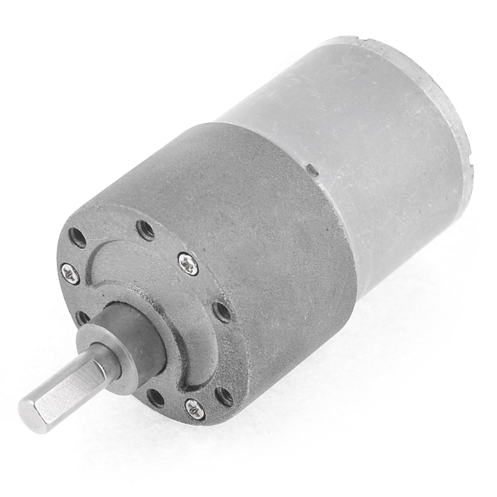 Uxcell Newest 1 Pcs Output Speed Cylinder Shape DC 12V 80RPM Gearbox Geared Motor цена