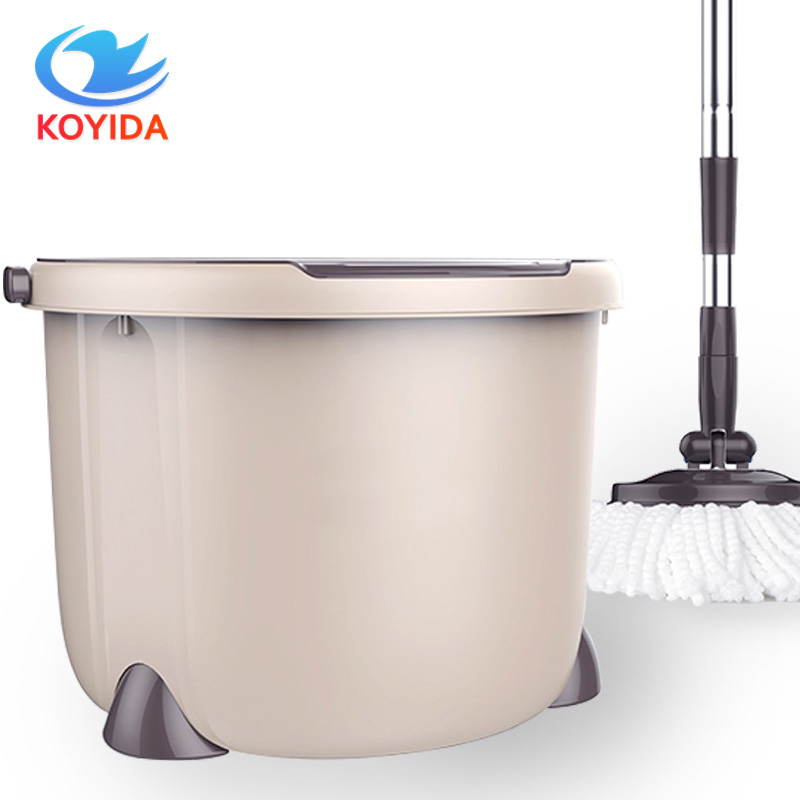 KOYIDA Spinning <font><b>Mop</b></font> Bucket Double Drive Hand Pressure With 1 Microfiber <font><b>Mop</b></font> Head Household Floor Cleaning