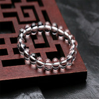 Fashion Natural White Crystal Stone Beads 8mm Bracelet